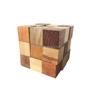 Large super 3d magic wooden cube brain teasers best puzzle for adult