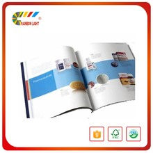 Gold quality a4 landscape 128gsm offset paper brochure sample