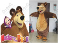 masha and the bear mascot costumes high quality plush materials hot sale bear costumes
