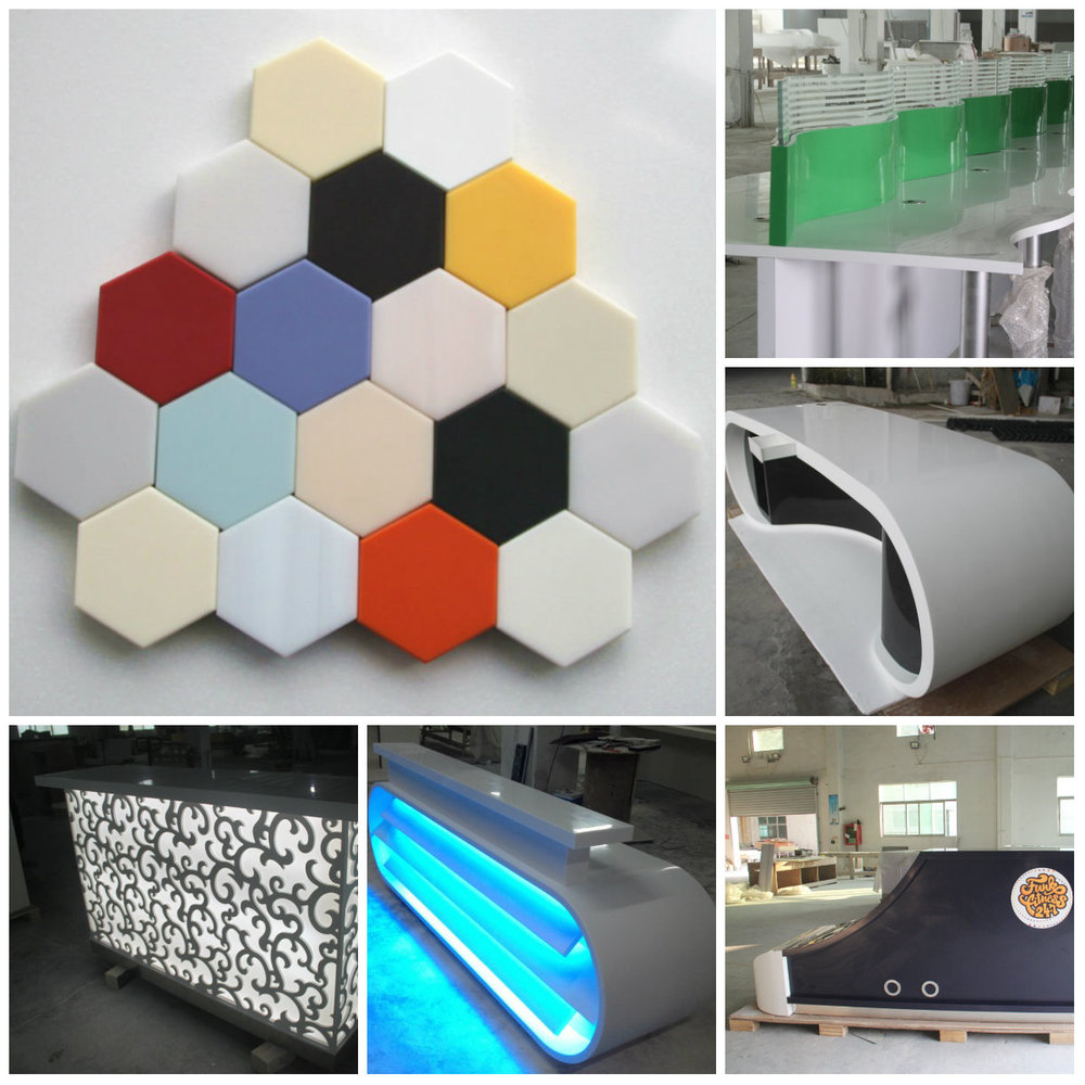 Free Standing U Shape Faux Stone Solid Surface Acrylic