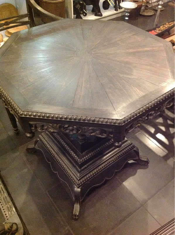 Ebony Wood 8 Octagon Table