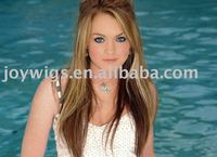 Lindsay Lohan Two tone color Blonde Hightlight Celebrity hairstyle Lace wig