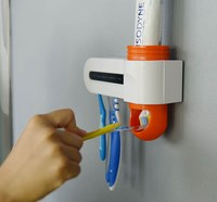 UV Sterilizer Disinfection Toothbrush Sanitizer With Toothpaste Dispenser