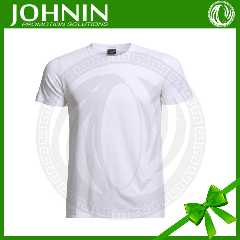adult's round neck custom cheap white cotton man polo tshirt