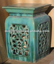 Modern Chinese Beautiful Carved Porcelain Decorative Stool