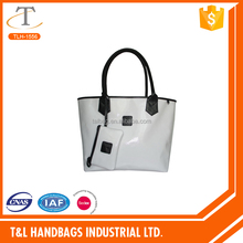 2016 Popular hot sale suede PU leather pvc leather tote bag handle bag shopping bag for Lady