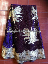 african velvet lace fabric/lace with sequins