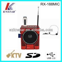 Promotion fm radio speaker with usb port