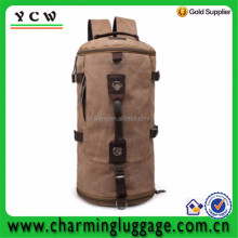 Canvas Leather Hiking Travel Military Messenger Tote Bag Back