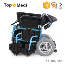 Big Promotion Topmedi Folding Power Electric Wheelchair with PG controller