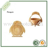SN-3015 Penguin Bamboo Fruit Picking Basket