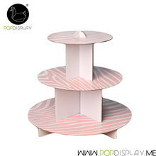 High Quality New Cardboard Paper White Pop Heart Shape Mini Cupcake 3 Tier Cinderella Carriage Wedding Cake Stand