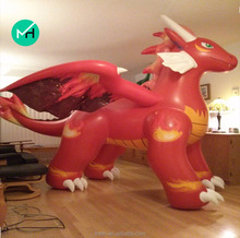 hot sale giant model inflatable flame dragon for advertising