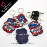 2016 promotion giftware one Side Soft PV Ccustom Key holder