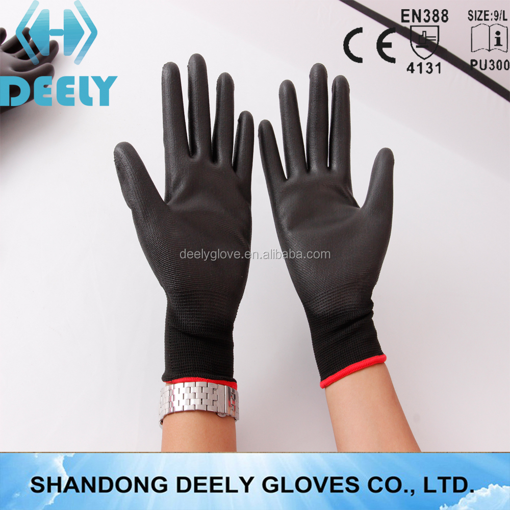 personalized work gloves pu coated gloves en388 4131 factory gloves