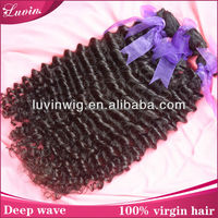 100% pure Peruvian virgin Hair, natrual raw human hair Extension,deep wave weaving,