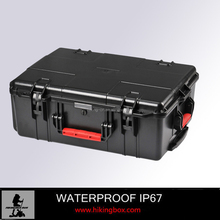 IP67 Heavy Duty ABS waterproof Plastic Camera Case/ Cheapest plastic tool case with Wheels and foam insert HIKINGBOX HTC024