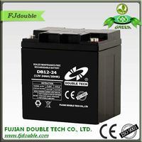 rechargeable 12v 24ah home ups battery