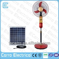 Good looking solar rechargeable electric fan with charger