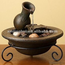 Bowl and Pot Small Fountain Tabletop Decorative Water Fountains