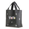 80gsm Silkscreen Printed Handled Eco Reusable Small Nonwoven Tote Bag For Shopping