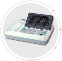 High quality and Cheap price ECG 601 Digital Six Channel ECG machine support external printer and linear barcode