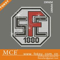 font san francisco 1880 diamond rhinestone iron on transfer motif for garment - FOKSY