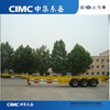 CIMC 3 axle 40ft skeleton container cargo trailer for sale