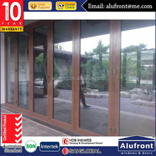 double tempered glass bi folding door/bifold glass door with insert blinds