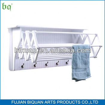 outdoor towel rack shelf