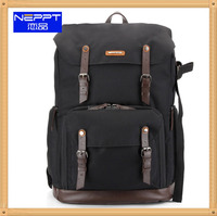 leather camera backpack photo bag outdoor travel laptop watherproof dslr camera backpack
