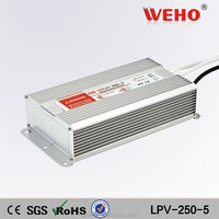 Good quality constant voltage 5v dc power supply led driver 250w