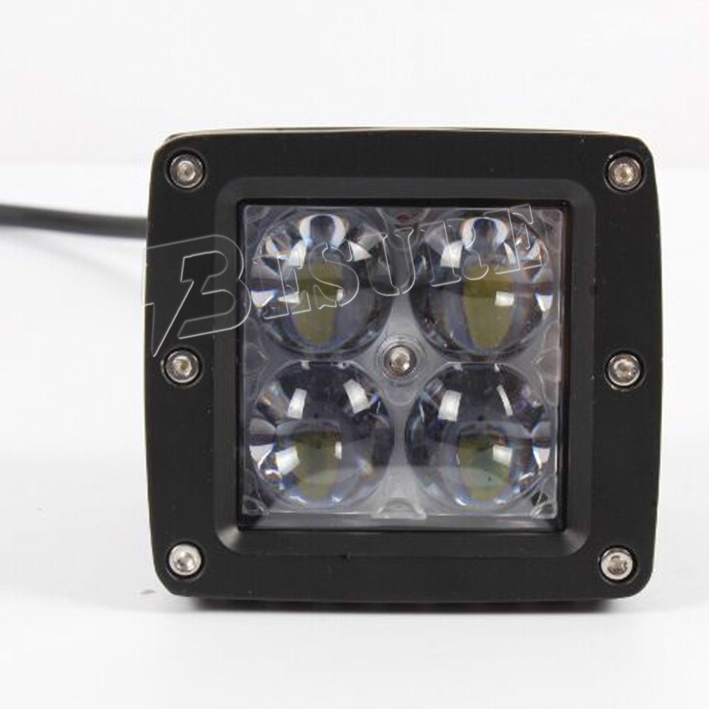 Wholesale 24W Offroad 4x6 Inch Square LED Headlamp With High/Low Beam&White Middle DRL Front Accessories For Truck