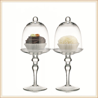 New item wedding glass covers cupcake stand