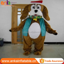 Custom advertising fur costumes , christmas hat dog for sale