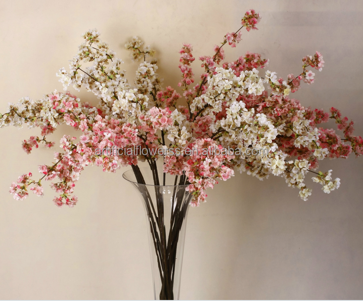 High quality Artificial Silk cherry blossom branch for sale