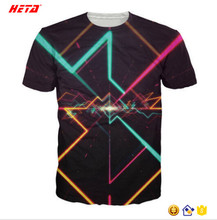 2017 Hot sale fashion sbulimation color t shirt in your own design sublimation shirts custom