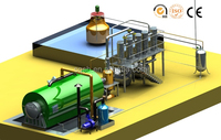 2-3 workers need automatic old tyre pyrolysis plant with CE ISO