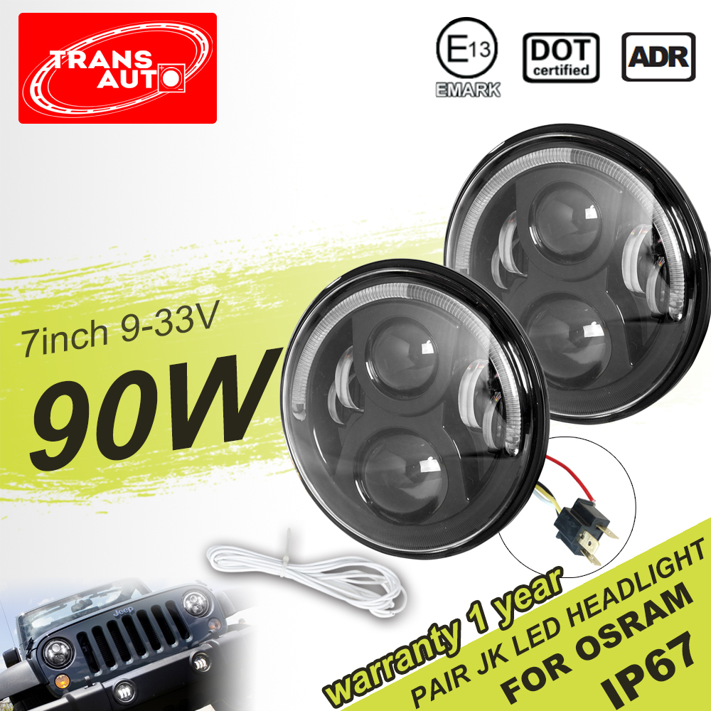 New DOT SAE Approved 7 inch LED Headlight For Jeep CJ,TJ,JK