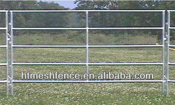 galvanized horse /cattle feeding fence