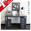 Home Office Steel Table Computer Console Desk Table Metal Workstation With Wheel