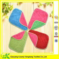 Wholesale Cheap Colorful Microfiber Cleaning Double Side Kitchen Towel