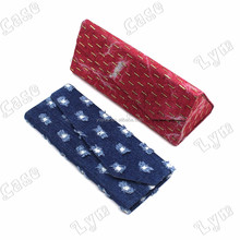 jeans canvas sun glasses storage box customize fold case for display spectacle