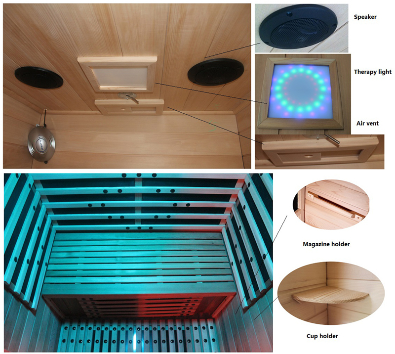 wooden mini portable far infrared sauna room buy mini. Black Bedroom Furniture Sets. Home Design Ideas