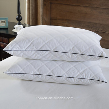 wholesale queen king size duck goose down filled quilted pillow