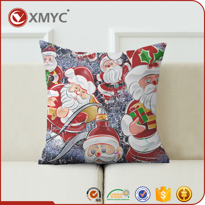 Christmas Theme Santa Claus Wholesale Factory Direct Cushion Covers Sublimation Printing