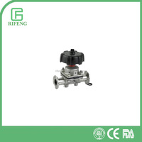High Putiry Sanitary SS316L Manual Tri-Clamp Diaphragm Valve With Handwheel