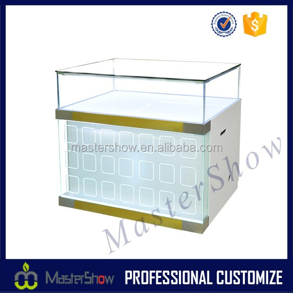 White wooden display cabinet/Cell phone display countertop/Digital products display showcase