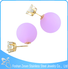 cheap fashion zircon stone gold plated earrings