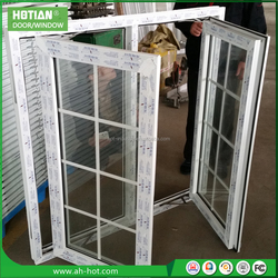 Alibaba China UPVC Profile PVC Swing Window Grill Design Clear Plastic Window Covers